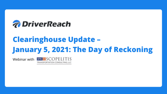 Clearinghouse Update - Jan 5, 2021 - The Day of Reckoning