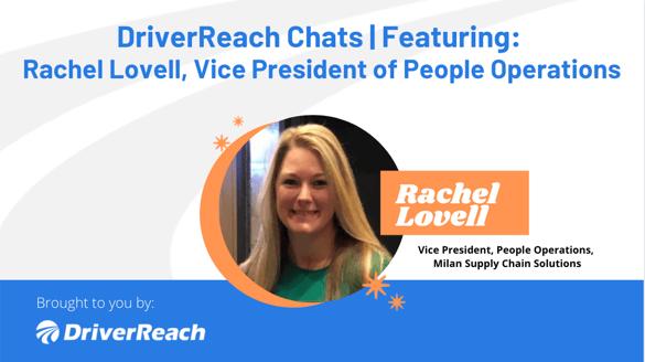 DriverReach Chats - Rachel Lovell