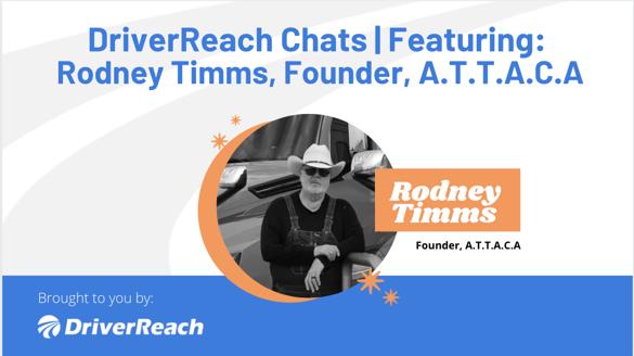 DriverReach Chats - Rodney Timms