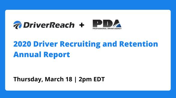 Hubspot Webinar 2020 Driver Recruiting and Retention Annual Report