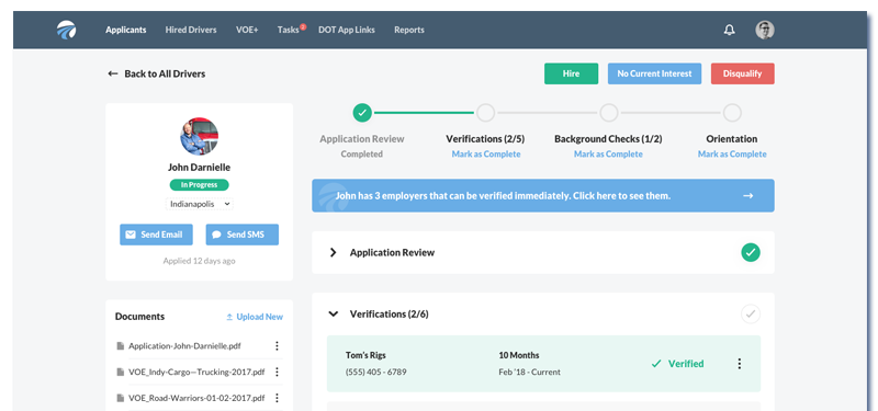 DriverReach Software Screenshot