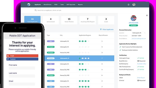 DriverReach - Recruiting Management Software Hiring CDL