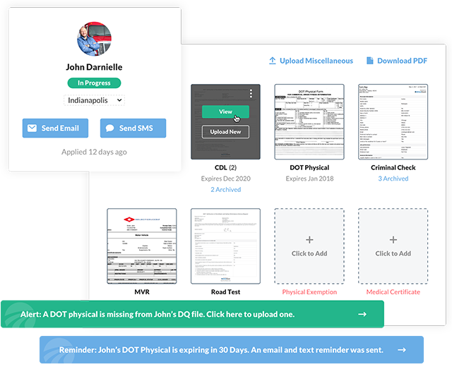 DriverReach Software -  Driver Compliance Management