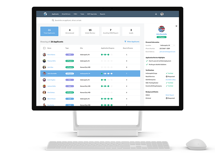DriverReach Recruiting Management Software for CDL Drivers
